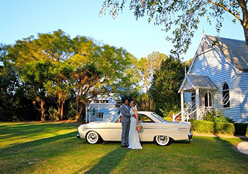 Alinda & Mitch married at The Old Church Mt Tamborine Gold Coast with Marry Me Marilyn