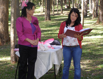 Anastasia reading her Poem she wrote for baby Tia in Naming Ceremony performed by Marilyn Verschuure Marry Me Marilyn
