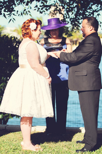 Marry Me Marilyn married Andrea & Alexander at Broadbeach Waters by the canal on the Central Gold Coast