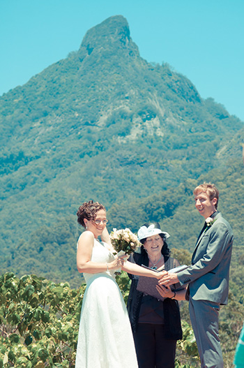 Marry Me Marilyn married Angela & Clinton's Wedding at Mavis' Kitchen Uki Mount Warning NSW