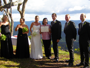 Elisa & Paul's Wedding at Luke's Bluff at O'Reilly's Rainforest Retreat in the Gold Coast Hinterland