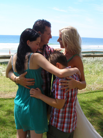 Mark & Emma for Handfasting Renewal of Vows Surfers Paradise Gold Coast with Marry Me Marilyn
