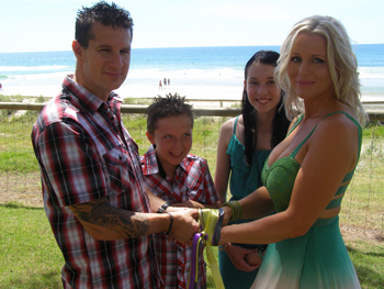 Mark & Emma had a Handfasting Renewal of Vows Surfers Paradise Gold Coast with Marry Me Marilyn