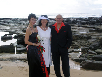 Fatima Gordon's Spiritual Wedding Point Cartwright Buddina Sunshine Coast they had a Sacred Marriage Ceremony