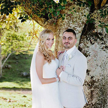 Marry Me Marilyn were chosen by Hannah and Rami for a Christian Muslim Fusion Wedding at the Solothurn Resort Reesville