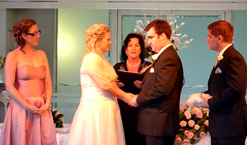 Heidi & Jarvis were married by Marry Me Marilyn Verschuure at the South Bank Riveroom in Brisbane's Southbank