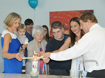 Marry Me Marilyn created a special Candle Ceremony for Jacobs Naming Ceremony at the Waves Resort Broadbeach