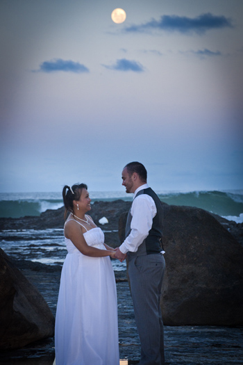 Chris & Judith from South Australia married at Froggys Beach in Coolangatta Gold Coast with Marry Me Marilyn