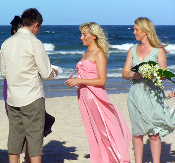 Katy and Nick fromChristchurch  New Zealand were married on Burleigh Beach on the Gold Coast by Marry Me Marilyn