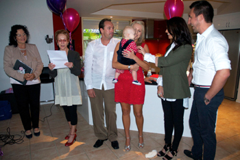 Maddison's Naming Ceremony at Benowa Gold Coast with Marry Me Marilyn