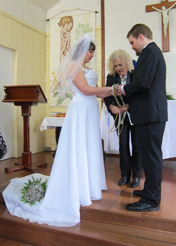 Marry Me Marilyn hantelle & Ashley's Medieval Inspired Wedding St Joseph's Church OReilly's Rainforest Reatreat Handfasting Ceremony