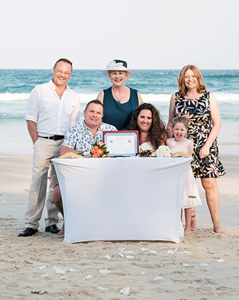 Marry Me Marilyn Clare & Jason Renewal of Vows 10th Anniversary on Main Beach Gold Coast