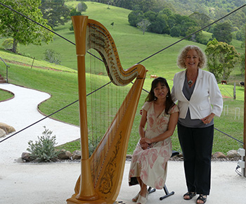 Marry Me Marilyn with Harpist Naomi Terashima at Cowbell Creek