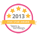 Marry Me Marilyn_Easy Weddings 5 Star Award Badge_2013