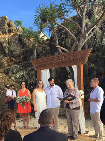 Marry Me Marilyn Emily & Murray Wedding Elephant Rock Currumbin Beach Gold Coast