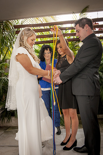 Marry Me Marilyn married Jacinta & Kelly married with  a Handfasting at Aloha Waters Broadbeach Waters Gold Coast