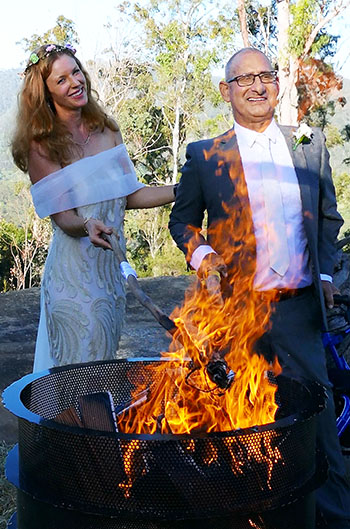 Marry Me Marilyn Jessica_Michael Spiritual Handfasting Wedding Austinville Gold Coast