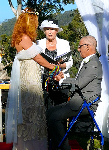 Marry Me Marilyn Jessica & Michael Spiritual Handfasting Wedding Austinville Gold Coast