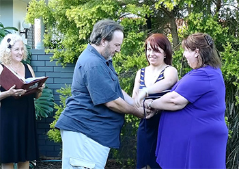 Marry Me Marilyn John & Sally Handfasting Renewal of Vows 25th Wedding Anniversary Isle of Capri, Gold Coast