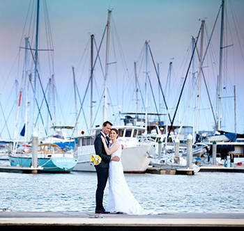 Marry Me Marilyn_Wedding Lauren_Michael_Moreton Bay Trailer Boat Club Manly Brisbane