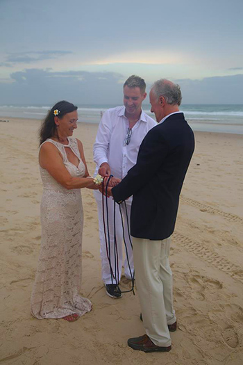 Marry Me Marilyn Mandy and Richard Handfasting Wedding Main Beach Gold Coast