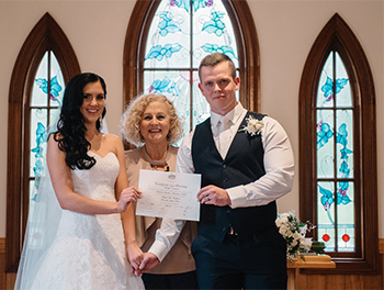 Marry Me Marilyn_Samantha_Michael_Wedding Tamborine Gardens_Marriage Certificate