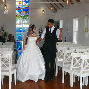 Marry Me Marilyn Sayo & Nathan Red Thread of Fate Wedding Gold Coast Chapel by the Sea