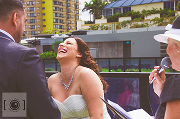 Marry Me Marilyn Stacey & Gary-Paul Wedding Zen Garden Circle on Cavill Surfers Paradise Gold Coast
