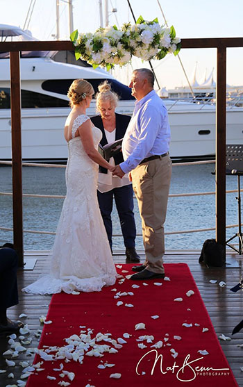 Marry Me Marilyn_Tracey & Larry Wedding Southport Yacht Club Main Beach