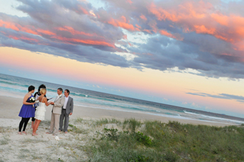 Martijn & Merit from The Netherlands were married on Main Beach on the Gold Coast as the sun went down. They included their Love Story, the Blessing of the Hands and a Shell Ceremony.
