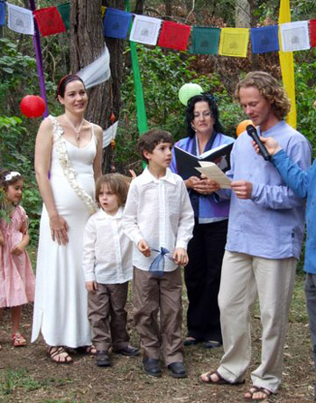 Mary & Brendan's Wedding at their home on Macleay Island Redlands off Brisbane with Marry Me Marilyn
