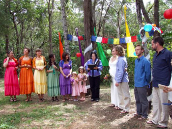 Mary & Brendan had an original & spiritually conscious handfasting ceremony at their home on Macleay Island in the Brisbane Bay Islands in the Redlands Region.