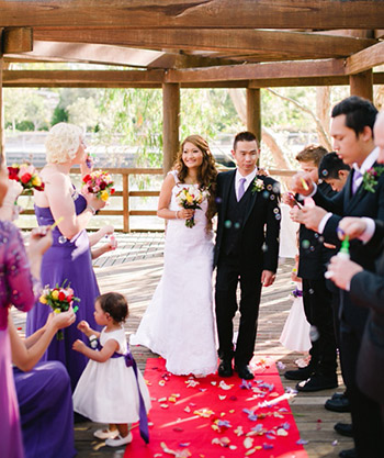 Banthip & Sai married at The Lakeside Hut Gold Coast Botanic Gardens Benowa with Marry Me Marilyn Celebrant