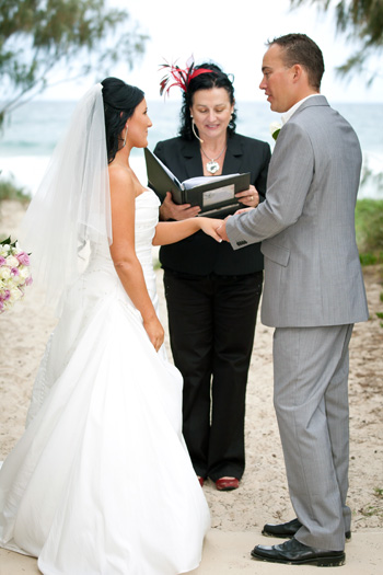 Sarah & John Hayne's married at Philip Park Main Beach Northern Gold Coast South East QLD