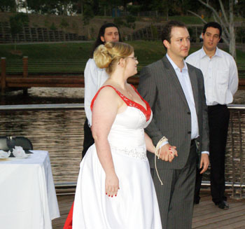 Wedding Handfasting Bindings and Vows Gold Coast Botanical Gardens Benowa with Marry Me Marilyn Marilyn Verschuure Civil Marriage Celebrant Brisbane and Byron Bay