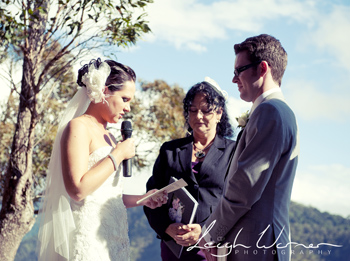 Tanya & Steve were married by Marry Me Marilyn at Moonlight Crag at O'REilly's Rainforest Retreat in the Gold Coast Hinterland on a glorious day overlooking the valley.